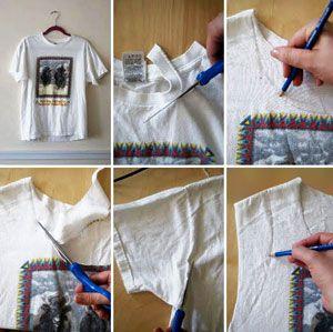 Сделать из футболки майку
