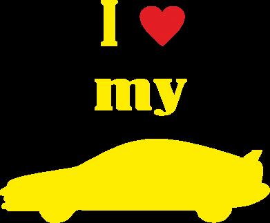 Принт Мужская майка I love my car - PrintSalon