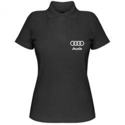 Женская футболка поло Audi - PrintSalon