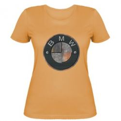 Женская футболка BMW Steel Logo