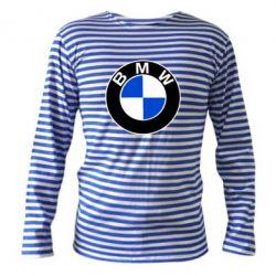 Тельняшка с длинным рукавом BMW - PrintSalon