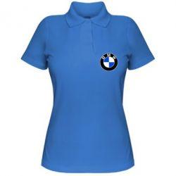 Женская футболка поло BMW - PrintSalon