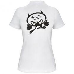 Женская футболка поло Чертик Subaru