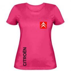 Женская футболка Citroen Vertical