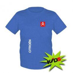 Детская футболка Citroen Vertical