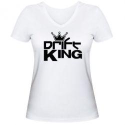 Женская футболка с V-образным вырезом Drift King