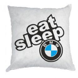 Подушка Eat, sleep, BMW