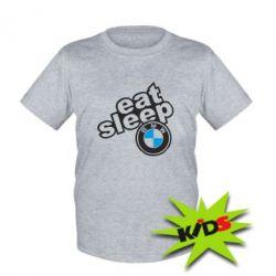 Детская футболка Eat, sleep, BMW