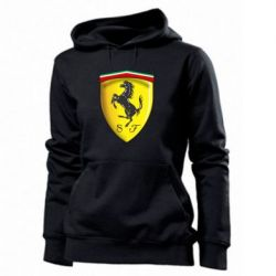 Женская толстовка Ferrari 3D Logo