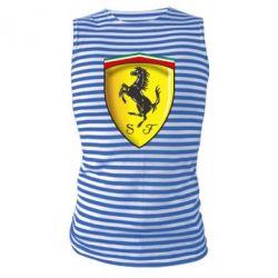 Майка-тельняшка Ferrari 3D Logo