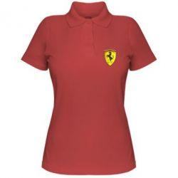 Женская футболка поло Ferrari 3D Logo