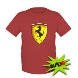 Детская футболка Ferrari 3D Logo