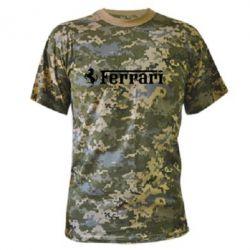 Камуфляжная футболка Ferrari - PrintSalon
