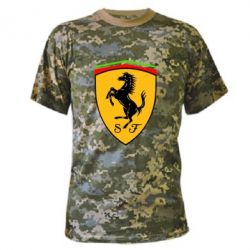 Камуфляжная футболка Ferrari