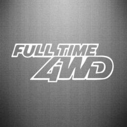 Наклейка Full time 4wd - PrintSalon