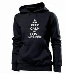 Женская толстовка Keep calm an love mitsubishi