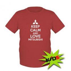 Детская футболка Keep calm an love mitsubishi