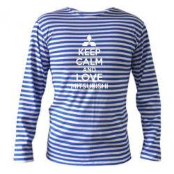 Тельняшка с длинным рукавом Keep calm an love mitsubishi