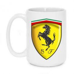 Кружка 420ml Ferrari 3D Logo