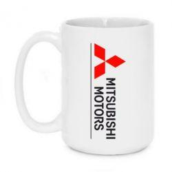 Кружка 420ml Mitsubishi Motors лого