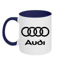 Кружка двухцветная Audi - PrintSalon