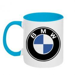 Кружка двухцветная BMW - PrintSalon