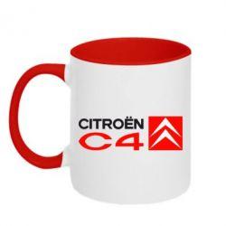 Кружка двухцветная Citroen C4 Small