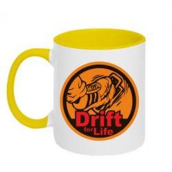 Кружка двухцветная Drift for Life