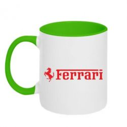 Кружка двухцветная Ferrari - PrintSalon