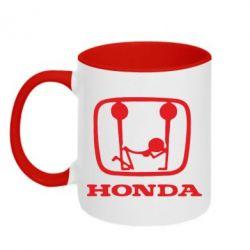 Кружка двухцветная Honda - PrintSalon