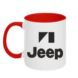 Кружка двухцветная Jeep Logo