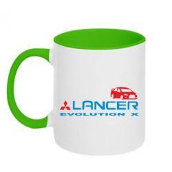Кружка двухцветная Lancer Evolution X