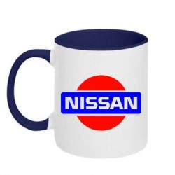 Кружка двухцветная Logo Nissan