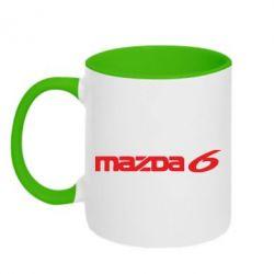 Кружка двухцветная Mazda 6 - PrintSalon