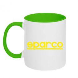 Кружка двухцветная Sparco - PrintSalon