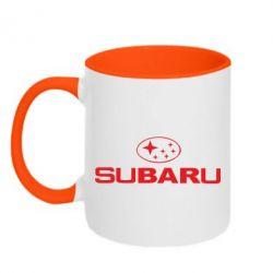 Кружка двухцветная Subaru - PrintSalon
