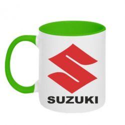 Кружка двухцветная Suzuki - PrintSalon