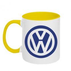 Кружка двухцветная Volkswagen - PrintSalon