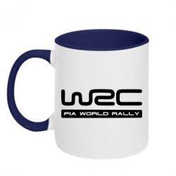 Кружка двухцветная WRC - PrintSalon