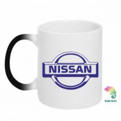 Кружка-хамелеон логотип Nissan - PrintSalon