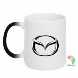 Кружка-хамелеон Mazda 3D Logo