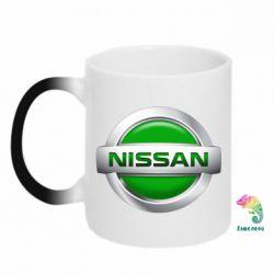 Кружка-хамелеон Nissan Green