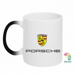 Кружка-хамелеон Porsche - PrintSalon
