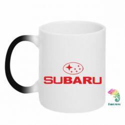 Кружка-хамелеон Subaru - PrintSalon