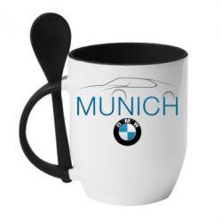 Кружка с керамической ложкой BMW Munich