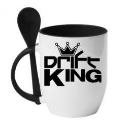 Кружка с керамической ложкой Drift King