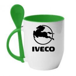 Кружка с керамической ложкой IVECO