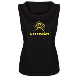 Женская майка Логотип Citroen - PrintSalon