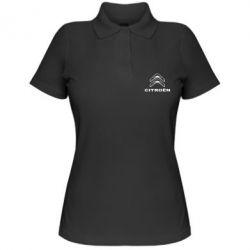 Женская футболка поло Логотип Citroen - PrintSalon