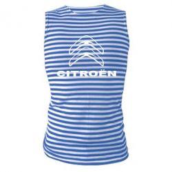 Майка-тельняшка Логотип Citroen - PrintSalon
